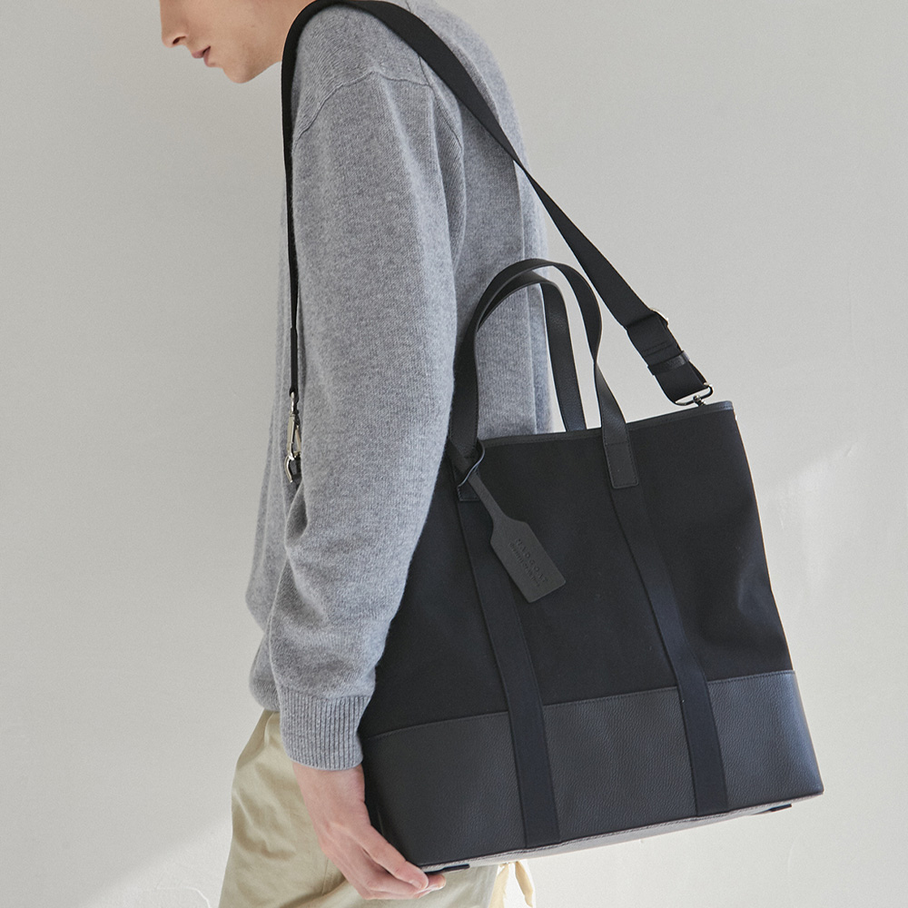 Dual Top Canvas Tote Bag